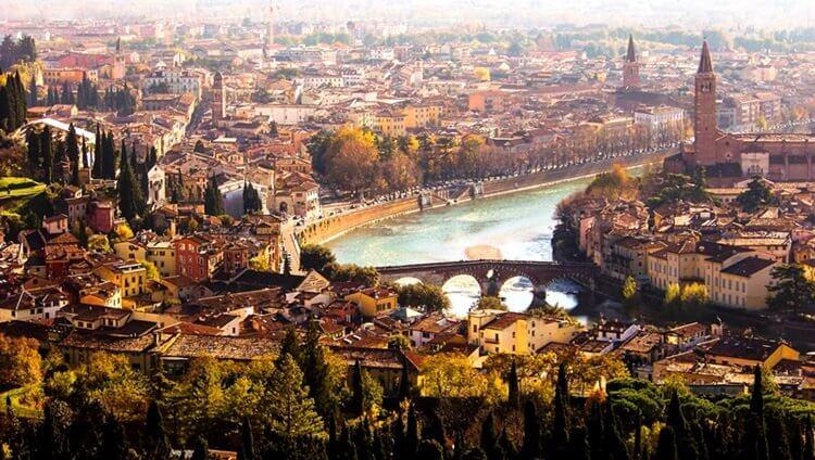 Verona şehir merkezi