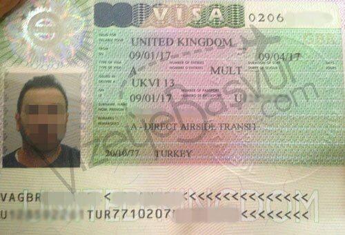 İngiltere transit vize örneği