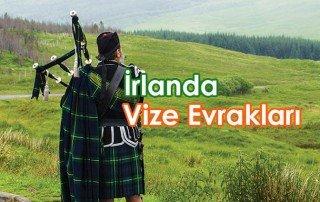 İrlanda vizes için gerekli evraklar