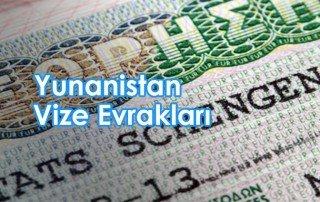 yunanistan vizesi için gerekli belgeler