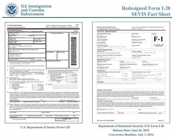 I20 belgesi Abd öğrenci vizesi